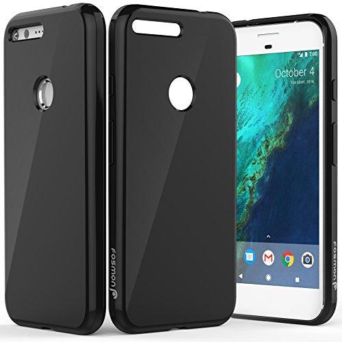 Google Pixel XL hülle Case, Fosmon DURA-T Slim [Flexible | Gel] TPU Glossy Back Cover für Google Pixel XL (Klar) Schwarz
