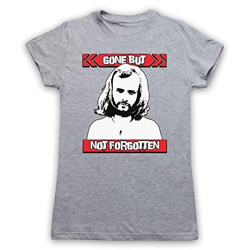 John Peel Gone But Not Forgotten Damen T-Shirt Grau
