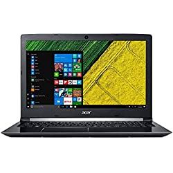 """Acer Aspire 5 A515-51 - Ordenador portátil 15.6"""" HD (Intel Core i5-7200U, 8 GB de RAM, HDD de 1 TB, Intel HD Graphics, Windows 10 Home) Negro - Teclado QWERTY Español"""