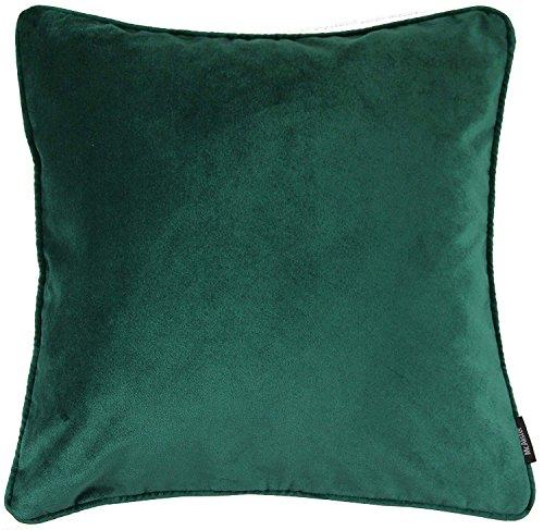 McAlister Textiles Matter Samt | Kissenbezug für Sofakissen in Smaragd Grün | 45 x 45cm | griffester Samt edel paspeliert | in 25 Farben erhältlich | Kissenhülle für Samtkissen