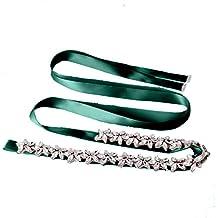 TOPQUEEN - Cinturón de cintura para novia con cristales para mujer