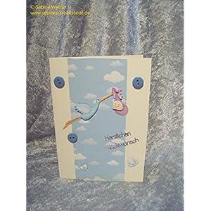 3D Grußkarte zur Geburt Junge, Art. 0622