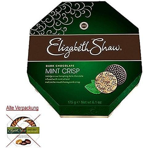 Elizabeth Shaw menta oscuro Crisp Chocolates 175g