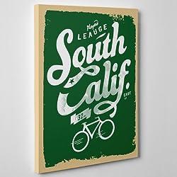 MODERNO lienzo Canvas-California del Sur South-Retro bicicleta Bici (cod.095-)