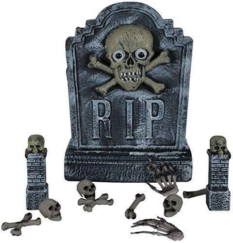 Fancy Me Totengräber Tomb Stein Friedhof Steigende Toter Zombie Unheimlich Halloween Horror Party Lustiger Streich Kostüm Kleid Outfit Dekoration Requisit