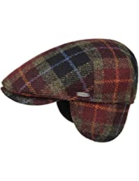 MAYSER Simon Harris Tweed Coppola Berretto Piatto Flat cap Cappellino in  Lana 04405d6dbefe