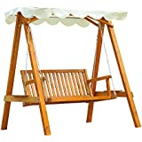 Balancelle balançoire hamac banc fauteuil de jardin en bois de pin 2 places charge max. 240kg neuf03
