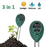 xwanli 3 in 1 Bodentester PH Wert Messgerät, Keine Batterie Erforderlich, Digitales Bodenmessgerät PH Saurer Für Garten Pflanzen Erde Wasser