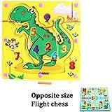 Magnetstift treibende Holzperle Labyrinth Puzzle - Dinosaurier Muster - Hand Labyrinth für Kinder 3 Jahre und up - Perfektes Weihnachtsgeschenk für Ihre Kinder