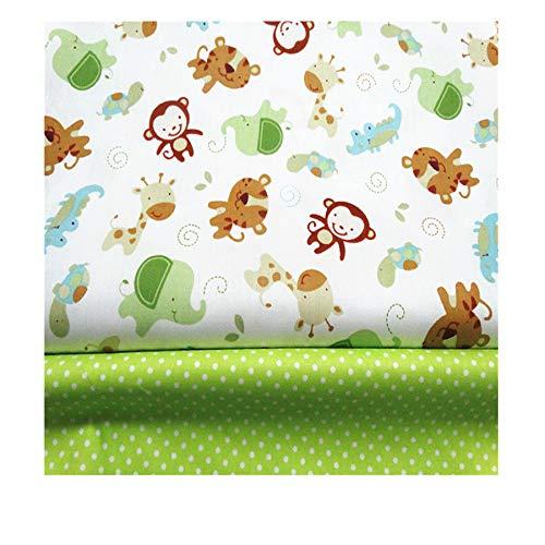 2 piezas de tela de algodón de 160 x 100 cm cada...