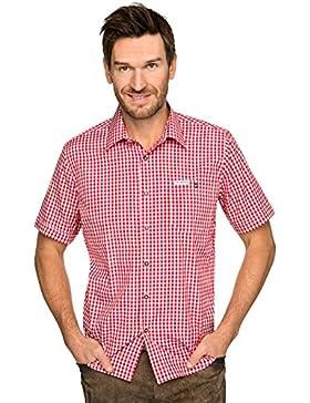 Stockerpoint Trachtenhemd Halbarm Karo Renko2 rot