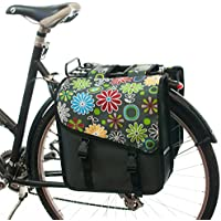 Beluko® - Alforjas unisex para bicicleta (doble), Daisy Flowers@Grey