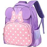 Vbiger Kinderrucksack Kindergarten Schultasche Vorschul Rucksäcke Daypack für Kleine Mädchen Lila