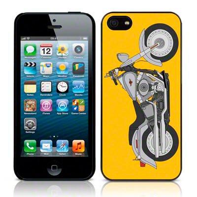 Call Candy Étui Collection Coque arrière rigide brillant Vélo pour Apple iPhone se/5S/5/5–Gris/Jaune Image
