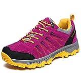 Classic Pink Damen Herren Wanderschuhe Outdoor Anti-Rutsch Sportlich Leicht Trekking Sports Sneaker Lila 37 EU