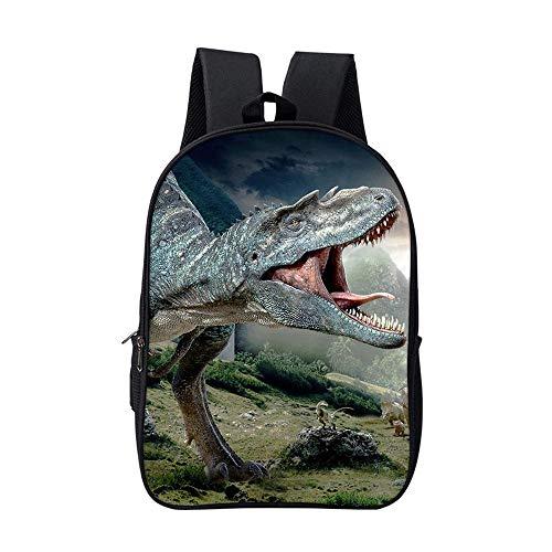 YXRL Dinosaurier Rucksack Rucksack Für Jungen Schultaschen Für Kinder Cool Animal Print Bagpack Daypack AB