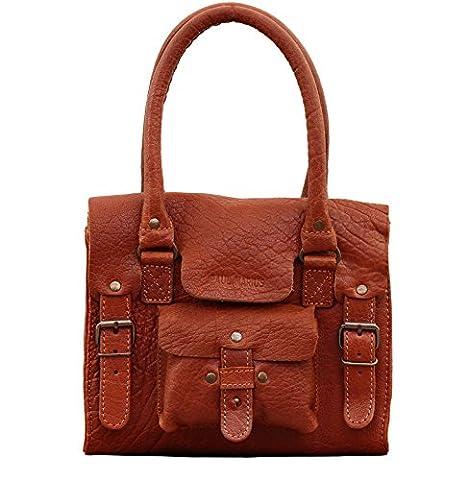 LE RIVE GAUCHE S Naturel sac bandoulière cuir style vintage PAUL MARIUS
