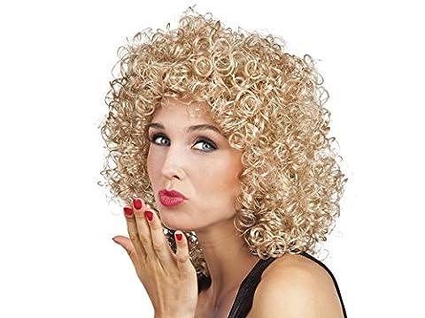 Blondinen 80er Jahre Perücke blond Lockenkopf Einheitsgröße Damen Locken-Perücke Karneval Fasching 86242 Alsino