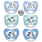 NIP Spar-Set Silikon Schnuller Family mit Ring Gr 3. (18-32 Mo.) 6er Pack Boys BPA frei made in Germany