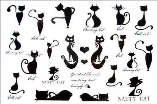 Dernières nouvelles 2012 hommes de conception nouvelle version et les femmes étanche autocollant de tatouage temporaire tatouage chaton série