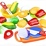 Oyedens 12PC Cutting Fruit Vegetable Pretend Play Juguetes para Niños Juguete Educativo
