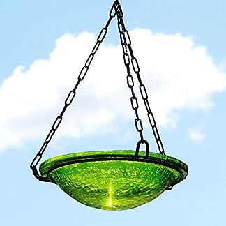 Achla Designs Fern Green Hanging Birdbath Achla Designs Fern Green Hanging Birdbath 51ImaekQglL