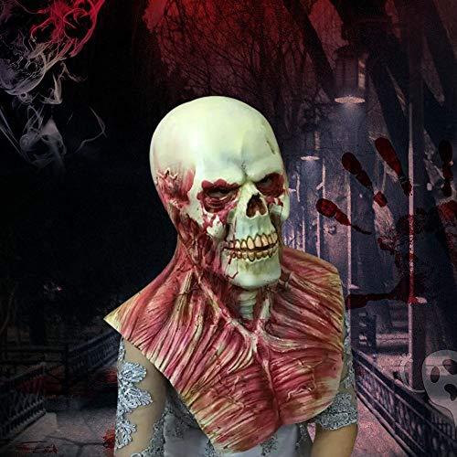 Horror Mask Zombie, Latex Biochemical Monster Scary Mask Anzug Für Kostümparty Halloween Requisiten, Scary Resident Evil Zombie Mask, Walking Dead Kostüm, Bloody Living Dead Requisiten Für - Evil Dead Kostüm