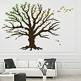 denoda Baum der Jahreszeiten - Wandtattoo 148 x 100 cm (Wandsticker Wanddekoration Wohndeko Wohnzimmer Kinderzimmer Schlafzimmer Wand Aufkleber)