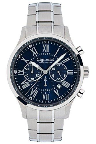 Gigandet Vernissage Montre Homme Chronographe Analogique Quartz Argent Bleu G47-001