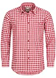 Stockerpoint Trachtenhemd OC-Franzl | kariert | Regular Fit | in Verschiedenen Farben (S, Rot)