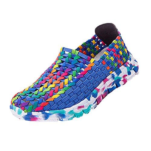 Frauen Damen Laufschuhe Atmungsaktiv Turnschuhe SchnüRer Sportschuhe Sneaker StraßEnlaufschuhe Schuhe Luftkissenschuhe Joggingschuhe Freizeitschuhe 35-40(Blau-a,36 EU) - 7 X 10 Rugby