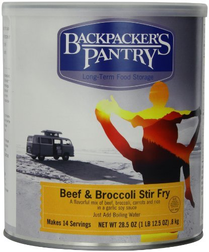 Backpacker's Pantry Stir Fry Beef and Broccoli, 28.5 Ounce, #10 Can by Backpacker's Pantry