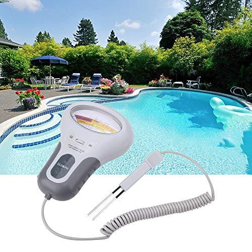 Chlortester, CL2 Chlor Hohe Genauigkeit Wasserprüfgerät Digital PH Messgerät PH Tester PC-102B Wasserqualitätsanalysator für Schwimmbädern,Whirlpools usw