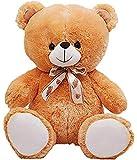 HUG 'n' FEEL SOFT TOYS Long Soft Lovable hugable Cute Giant Life Size Teddy Bear (2 Feet, Brown)