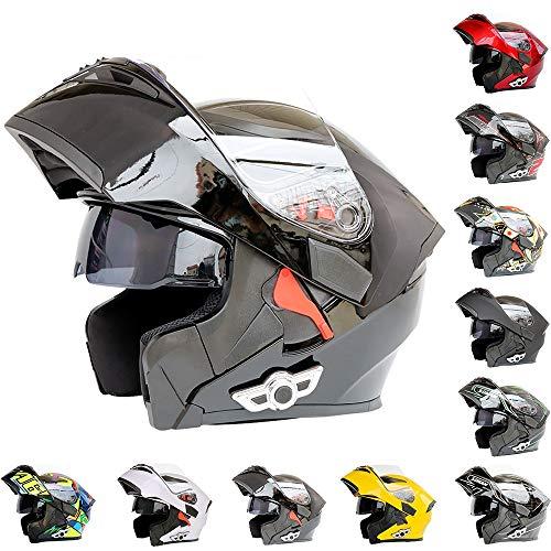 ZLing Casco Moto Integrazione Bluetooth Casco Moto modulare Casco Cross per Bambini Casco da Motocross - Connetti Dispositivo di Navigazione/Telefono/Musica,3,XL(61~62) CM