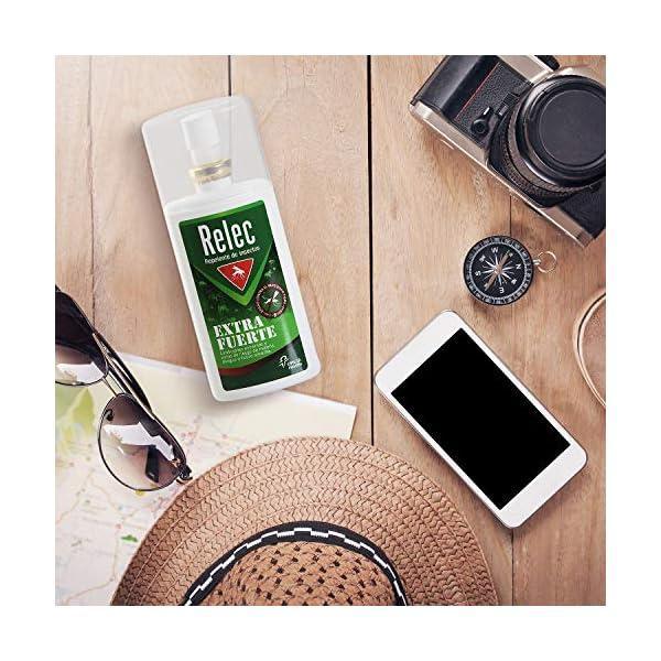 Relec Extra Fuerte Spray Antimosquitos | Repelente de Mosquitos Eficaz contra el mosquito tigre | Desarrollado para evitar las picaduras de mosquitos en severas condiciones climáticas | 75ml