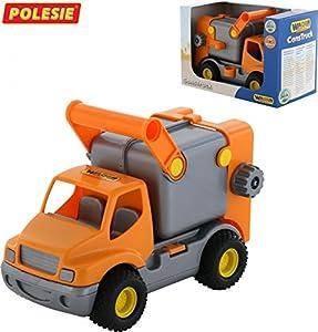 Wader construcción del camión Camión de Basura (Naranja)