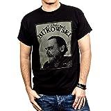 Retro Kult T-Shirt für Herren CHARLES BUKOWSKI schwarz Größe S