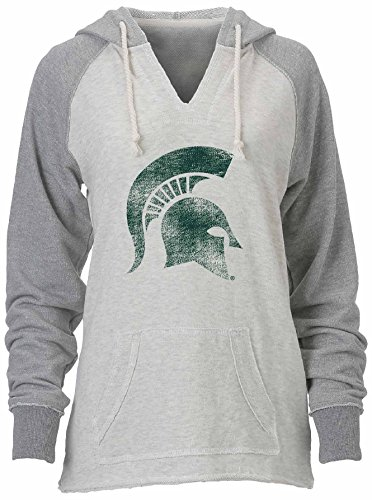 Ouray Sportswear NCAA lose French Terry Hoodie, Damen, W Loose French Terry Hood, Oatmeal Heather/Premium Heather, Small Terry Hoodie Sweatshirt