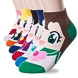 Socken, mit Cartoon-Charakter, Prinzessinnen-Serie Gr. Einheitsgröße, Sailor Moon 6Set