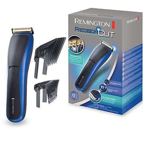 Remington HC5500 Haarschneider PrecisionCut Titanium, AcuAngle Klingen, Turboboost-Funktion, blau/schwarz