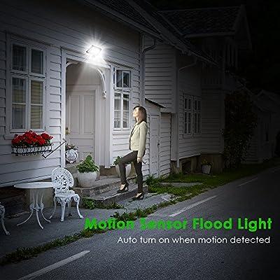 Motion Sensor Outdoor Security Light, LOFTer 30W 2400lumen Super Bright PIR Sensor Flood Light, IP65 Waterproof LED Security Lighting, Perfect for Garden, Backyard, Garage, Doorways, 6000K Cold White