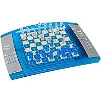 Lexibook ChessLight®, Jeu d'échecs électronique avec clavier sensoriel et effets lumineux et sonores, 32 pièces, 64 niveaux de difficulté, Bleu/Gris – LCG3000