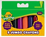 Crayola Jumbo 8 crayons de cire, couleurs assorties- Idéal pour les petites mains