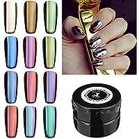 Unghie glitter Power, Lanowo 12colori Shinning Chrome nail Mirror Powder
