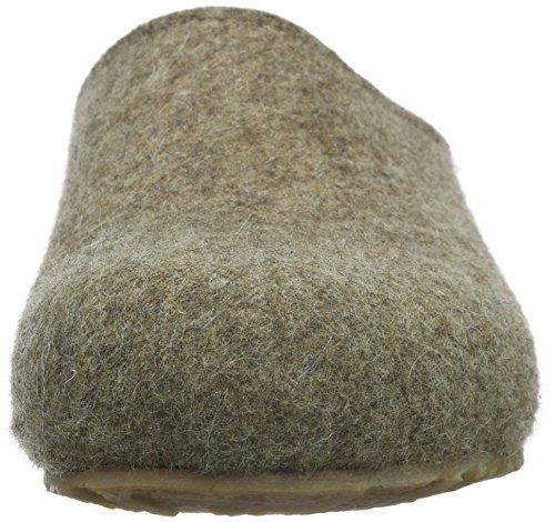 Haflinger Unisex-Erwachsene Grizzly Michl Pantoffeln Beige (Torf 550)