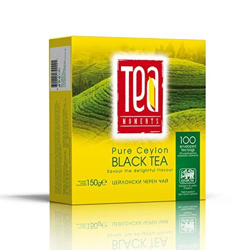 Ceylon Schwarzteebeutel 150g | Tee Momente 100 Beutel Schwarzer Tee