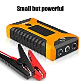 Car Jump Starter Pack Booster LCD 4 USB Charger Battery Power Bank for Gasoline Car 6.0,Diesel Engined Car 4.0