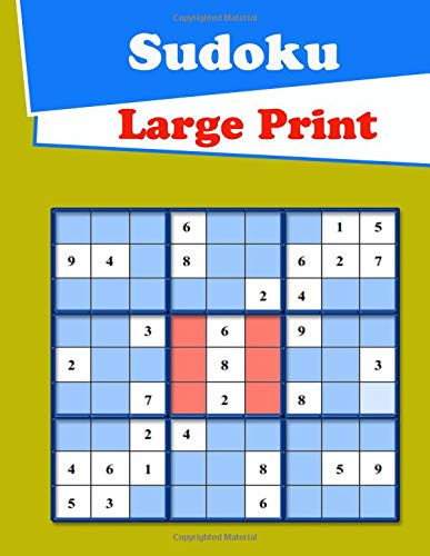 Large Print Sudoku: Medium to Hard Level Puzzles por Suwan Dina