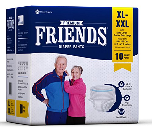 Friends Adult Pullups – Extra Large To Double Extra Large (Xl-Xxl)(10 Count)